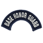 Patch, Tab, USAF Base Honor Guard, A-1-822, Color