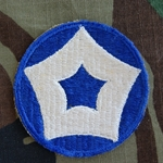 Patch, 5th Corps Area Service Command, Color, Cut Edge