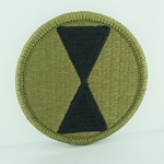 Patch, 7th Infantry Division, MultiCam® with Velcro®