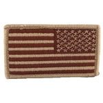 Patch, Reversed American Flag with Velcro®, Desert