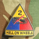 Patch, 2nd Armored Division, with Hell On Wheels Tab, Color