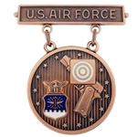 Badge, Qualification, Bronze, Excellence in Competition, Pistol Shot, U.S. Air Force MIL-DTL-3628-88 D