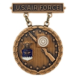 Badge, Qualification, Excellence in Competition, Rifleman, U.S. Air Force, Bronze, 1st Award, MIL-DTL-3628/85C