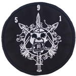 Patch, Operational Detachment Alpha (ODA) 591 White - Black, with Velcro®