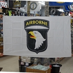 Flag, 101st Airborne Division (Air Assault), White, 3X5 Printed Polyester