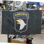 Flag, 101st Airborne Division (Air Assault), Black, 3X5 Printed Polyester