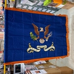 Flag, Organizational, WWII, 342nd Service Group, Rayon, 3 feet by 4 feet with Gold fringe
