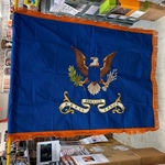Flag, Organizational, WWII, 323rd Service Group, Rayon, 3 feet by 4 feet with Gold fringe