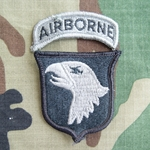 Patch, 101st Airborne Division With Tab, Foliage Green ACU without Velcro®