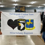 "Flag, 2nd Brigade Combat Team, 502nd Infantry Regiment ""Strike"", 3X5 Printed Polyester"