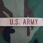 Desert Tan Embroidered U.S. Army Insignia, Distinguishing, Nametape Tags G.I.