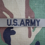 U.S. Army Nametape, Olive Drab Embroidered Insignia, Distinguishing, Nametape Tags G.I.
