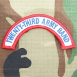 Patch, 23rd Army Band Tab Color