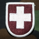 Beret Flash, 8th Medical Detachment, Merrowed Edge