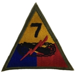Patch, 6th Armored Division, Color, Cut Edge