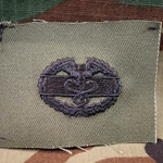 Subdued Sew-On, Combat Medical Badge (CMB), 1st Award, Type 2