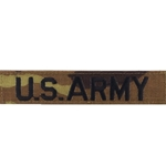 ACU Digital Embroidered U.S. Army Insignia, Distinguishing, Nametape Tags without Velcro®