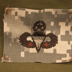 ACU Sew-on Parachutist Badge Master Two Jumps Old Type