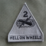 Patch, 2nd Armored Division ACU with Velcro®