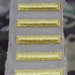 Army Male Blue Overseas Service Bars