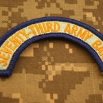 Patch, 73rd Army Band Tab Color