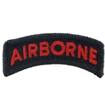 Patch, Airborne Tab, Color Black/Red