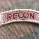 Patch, RECON Tab Desert