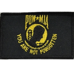 Patch, Prisoner of War / Missing in Action, Black/Yellow with Velcro®