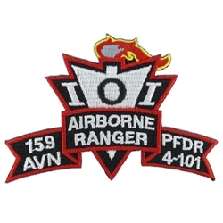Patch, 159th Aviation Brigade, PFDR, 4th Battalion, 101st Aviation Regiment, Color, Small New Type
