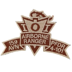 Patch, 159th Aviation Brigade, PFDR, 4th Battalion, 101st Aviation Regiment, Desert, Small Old Type