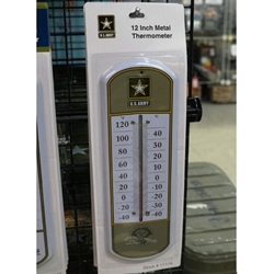 Military Metal Thermometers, Uniformed Services, U.S. Army