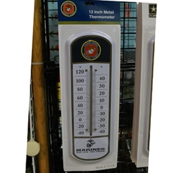Military Metal Thermometers, Uniformed Services, Marine Corps