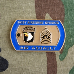 Challenge Coin, 101st Airborne Division (Air Assault), Division Command  Sergeant Major, DCSM Frank A  Grippe, Dog Tag