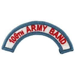 Patch, 106th Army Band ARANG Tab, A-1-1128, Color