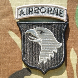 Patch, 101st Airborne Division With Tab, Foliage Green ACU with Velcro®