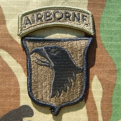 Patch, 101st Airborne Division With Tab, Subdued