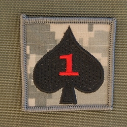 Helmet Patch, 1st Battalion, 506th Infantry Regiment, ACU, with Red One