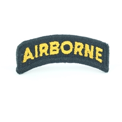 Patch, Airborne Tab, Color Black Gold
