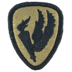 Patch, U S  Army Aviation Center and School, OCP / MultiCam® / Scorpion  with Velcro®